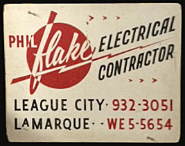 flake electric contractor logo sign