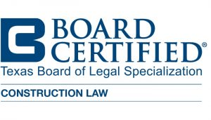 board certified construction law badge
